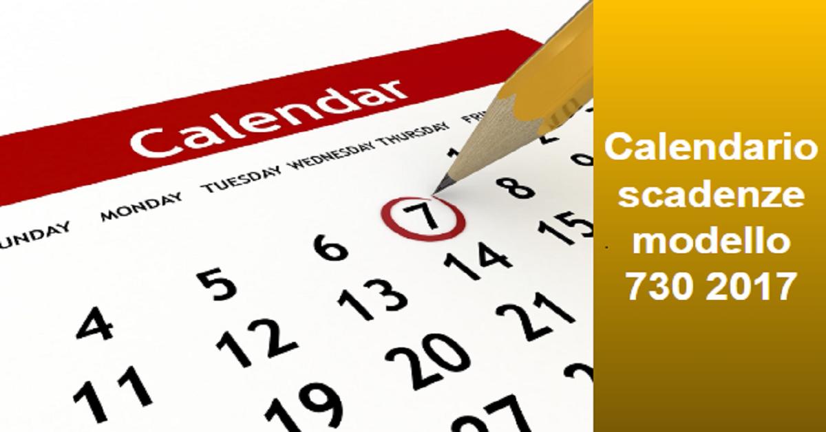 Attractive Calendario Scadenze Modello 730 2017   Caf   Lavoro E Fisco News