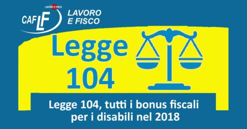 Legge 104, tutti i bonus fiscali per i disabili nel 2018