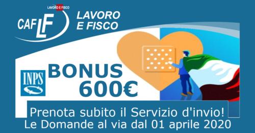 Bonus 600€ - Prenota subito il Servizio d'invio!