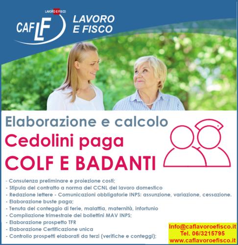 Colf E Badanti Caf Lavoro E Fisco News